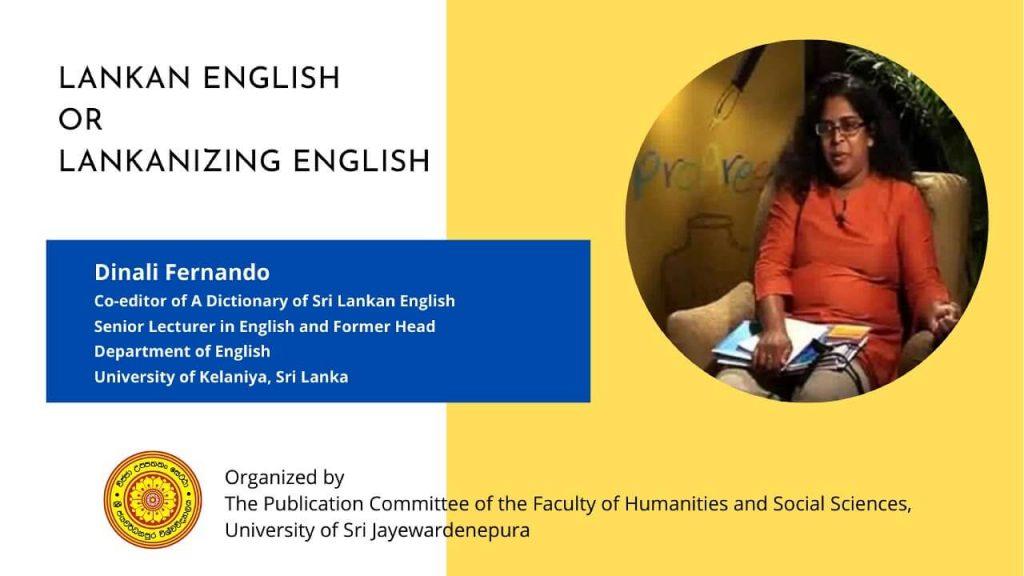Lankan English or Lankanizing English