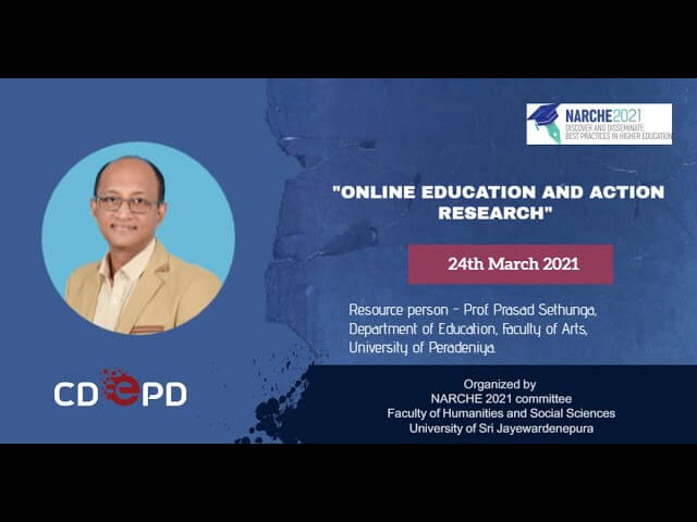 Workshop on 'Online Education and Action Research' by NARCHE 2021